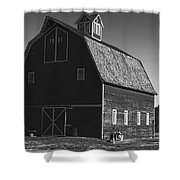 1913 Barn Black And White Shower Curtain
