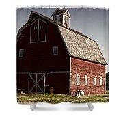 1913 Barn In Montana Shower Curtain