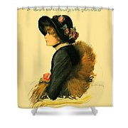 1913 - Detroit Free Press - Sunday Magazine Cover - Color Shower Curtain