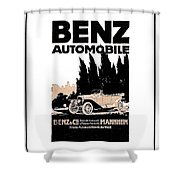 1914 - Benz Automobile Poster Advertisement - Color Shower Curtain