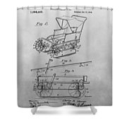 1914 Go Cart Patent Drawing Shower Curtain