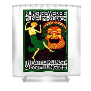 1914 Zurich Theater Arts Festival Shower Curtain