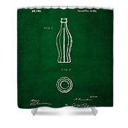 1915 Coca Cola Bottle Design Patent Art 4 Shower Curtain