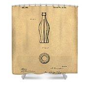 1915 Coca Cola Bottle Design Patent Art 5 Shower Curtain