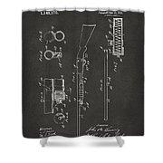 1915 Ithaca Shotgun Patent Gray Shower Curtain