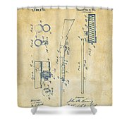 1915 Ithaca Shotgun Patent Vintage Shower Curtain