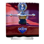 1915 Saxon Roadster Hood Ornament Shower Curtain