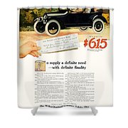 1916 - Willys Overland Roadster Automobile Advertisement - Color Shower Curtain