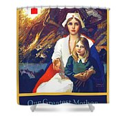 1917 - Red Cross Nursing Recruiting Poster - World War One - Color Shower Curtain
