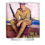 1917 - United States Marines Recruiting Poster - World War One - Color Shower Curtain
