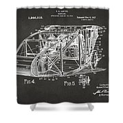 1917 Glenn Curtiss Aeroplane Patent Artwork 3 - Gray Shower Curtain