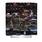 1917 Harley Davidson Shower Curtain