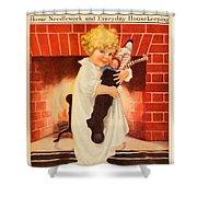 1917 - Modern Priscilla Magazine Cover - December Shower Curtain