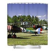 1917 Nieuport 28c.1 Fighter World War One Photo Shower Curtain