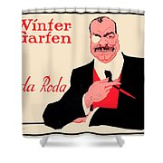 1918 - Wintergarten Poster - Roda Roda - Stephan Krotowski - Color Shower Curtain