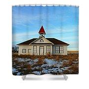 1918 Schoolhouse Macabe Montana Shower Curtain
