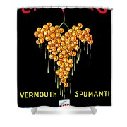 1919 - Conzano Vermouth Advertisement Poster - Color Shower Curtain