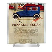 1919 - Franklin Sedan Advertisement - Color Shower Curtain
