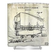 1919 Airship Patent Drawing Shower Curtain