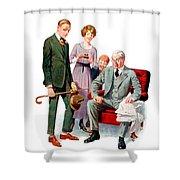 1920 - Life Magazine Cover - Engagement - J F Kernan - January 29 - Color Shower Curtain