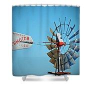 1920 Aermotor Windmill Shower Curtain