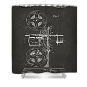 1920 Motion Picture Machine Patent Gray Shower Curtain