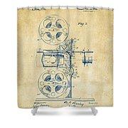 1920 Motion Picture Machine Patent Vintage Shower Curtain