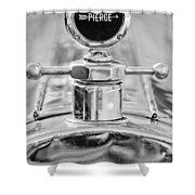 1920 Pierce-arrow Model 48 Coupe Hood Ornament - Motometer Shower Curtain