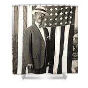 1920 The Proud American Shower Curtain by Historic Image
