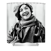 1920s 1930s Smiling Woman Dressed Shower Curtain