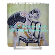 1920s Girl Shower Curtain