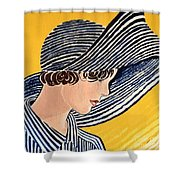 1920s Sun Hat Shower Curtain