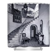1920s Upscale Home Entry With Spiral Shower Curtain
