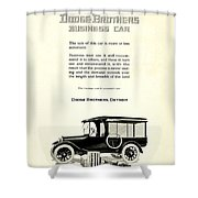1921 - Dodge Brothers Business Car Truck Advertisement Shower Curtain