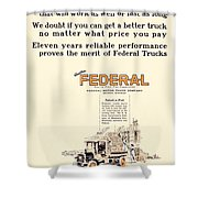 1921 - Federal Truck Advertisement - Color Shower Curtain