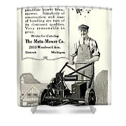 1921 - Moto Mower Lawnmower Advertisement Shower Curtain