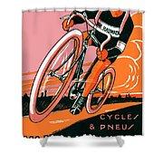 1921 - Van Hauwaert Bicycle Belgian Advertisement Poster - Color Shower Curtain