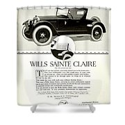 1921 - Wills Sainte Claire Automobile Roadster Advertisement Shower Curtain