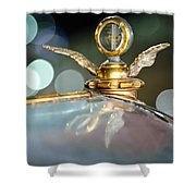 1921 Bentley Motometer Hood Ornament -0471c Shower Curtain