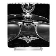 1921 Duesenberg Hood Ornament Shower Curtain