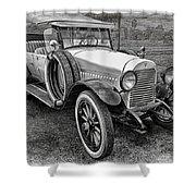 1921 Hudson-b-w Shower Curtain