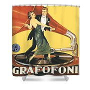 1922 - Columbia Gramophone Company Italian Advertising Poster - Color Shower Curtain