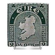 1922 Ireland Eire Stamp Shower Curtain