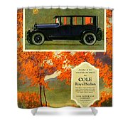 1923 - Cole Royal Sedan - Advertisement - Color Shower Curtain