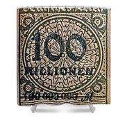 1923 100 Million Mark German Stamp Shower Curtain