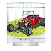 T Bucket Ford 1923 Shower Curtain