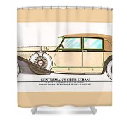 1923 Hispano Suiza Club Sedan By R.h.dietrich Shower Curtain