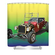 1923  Ford T Bucket  Shower Curtain by Jack Pumphrey