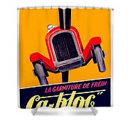 1924 - Ca-bloc Brakes French Advertisement Poster - Color Shower Curtain