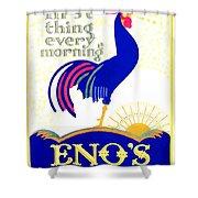 1924 - Eno's Fruit Salt Advertisement - Color Shower Curtain